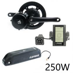 EVBIKE Přestavbová sada na elektrokolo 250W, 36V, displej C965, baterie 13Ah do rámu - EVBIKE