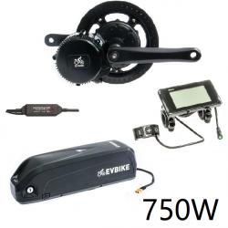 EVBIKE Přestavbová sada na elektrokolo 750W, 48V, displej C961, baterie 13Ah do rámu, gearsensor - EVBIKE