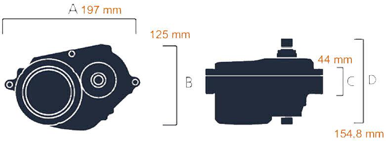 Bafang M500 rozměry